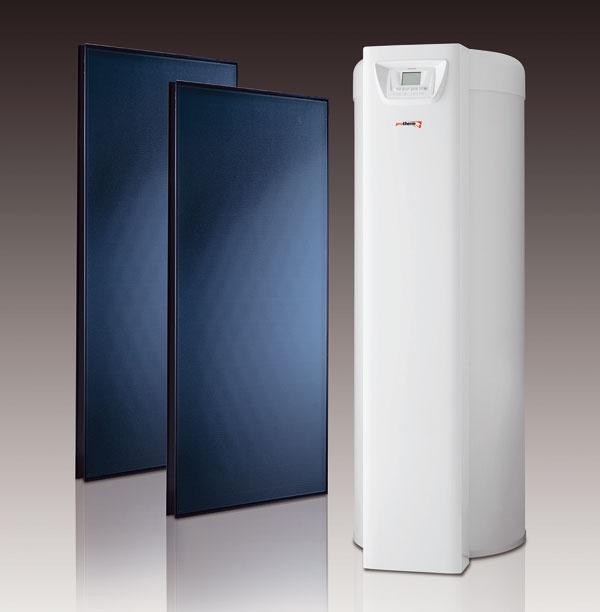 """Šetrite s beztlakovým """"drain-back"""" systémom Solárny systém HelioSet značky Protherm je inovatívna zostava, ktorá pracuje na beztlakovom princípe """"drain-back"""" – solárna kvapalina voľne stečie naspäť do solárneho výmenníka. Výhodou tohto riešenia je kompaktnosť solárneho systému, zjednodušená inštalácia a spoľahlivosť – nehrozí prehriatie solárnej kvapaliny v lete alebo jej zamrznutie v zime. Vďaka inovatívnej technológii sa solárna zostava zaobíde bez častých kontrolných prehliadok, čo takisto prispieva kúsporám. Solárna zostava HelioSet s250-litrovým zásobníkom pokryje až 60 % potreby teplej vody za rok, vlete dokonca až 100 %. Systém je navrhnutý na plynové aj elektrické kotly. Kolektory možno prichytiť vertikálne alebo horizontálne na rôzne druhy strešnej krytiny plochých išikmých striech. (zdroj: Protherm)"""