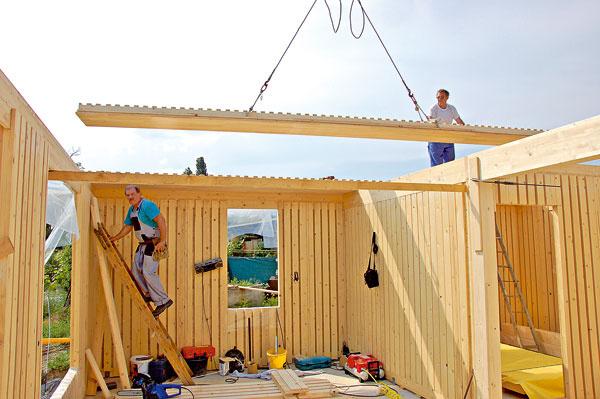 Výstavba pasívneho domu zobnoviteľných materiálov – dreva ako konštrukčného systému adrevovláknitej dosky acelulózy ako izolácie. Takéto domy majú menší vplyv na zhoršenie životného prostredia.