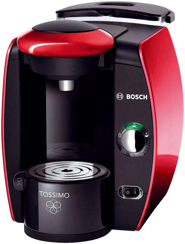 Bosch Tassimo T40 Objem zásobníka vody: 2 000 ml Najvyšší pohár: 17,5 cm Pôdorys: 20 × 33 cm Tlak: 3,3 baru Príprava espressa: 60 s Pohotovostná spotreba: 0 W