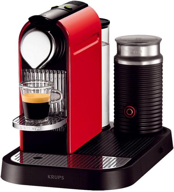 Krups Nespresso  Citiz & Milk NX7305 Objem zásobníka vody: 1 000 ml Najvyšší pohár: 15 cm Pôdorys: 25 × 37 cm Tlak: 15 barov Príprava espressa: 26 s Pohotovostná spotreba: 1 W