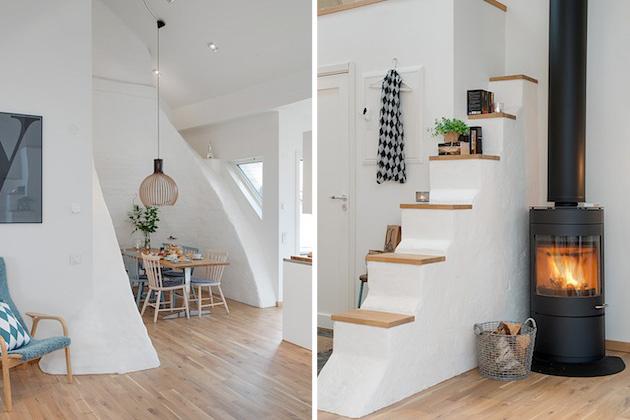 Apartmán vo švédskom štýle