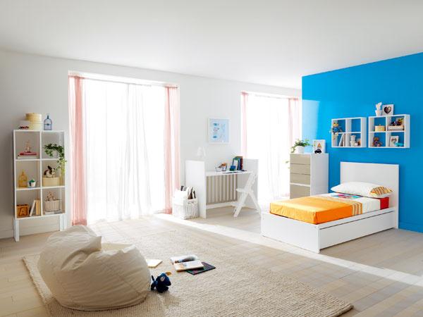 Všetky časti kompaktnej postieľky s úložným priestorom sú využité samostatne. Nič sa nemusí vyhadzovať a takto zariadená detská izba bude slúžiť niekoľko rokov.
