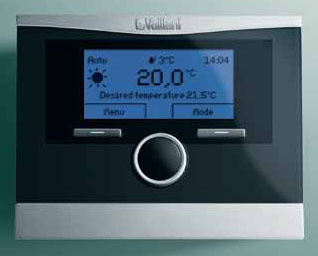 Programovateľný regulátor s prehľadným ovládaním na podsvietenom LCD displeji, sinformáciami vtextovej forme. Regulátor ovláda nielen vykurovací systém ariadi ohrev vody ale môžu sa naň zapojiť aj ďalšie systémy (solárny systém, tepelné čerpadlo).