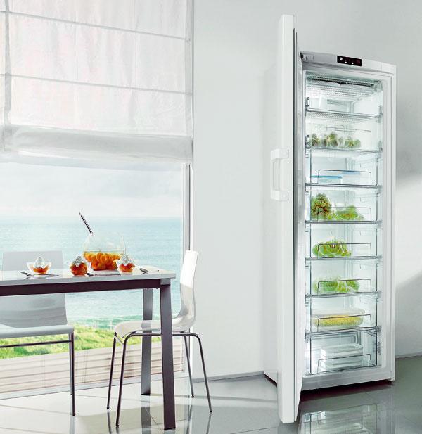 Voľba ECO vám umožňuje prepnúť mrazničku do úsporného režimu vprípade, že je potravinami naplnená iba čiastočne.