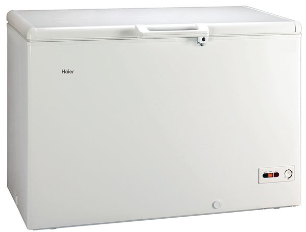 Haier BD 321SAA,energetická trieda A++, spotreba 201 kWh/rok, objem 325 l, kapacita mrazenia 24 kg/24 h, čas skladovania bez elektrického prúdu 38 h, hlučnosť 39 dB, Supermrazenie, 459 €