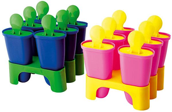 Chosigt, nádobky na domácu výrobu nanukov, naplňte ovocnou šťavou adajte do mrazničky, polypropylénový plast, výška 10 cm, 1,99 €, IKEA