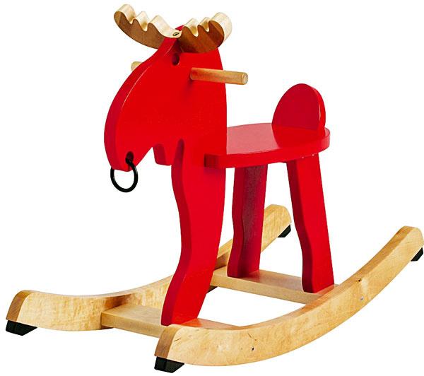 Hojdací los Ekorre, masívny kaučukovník,oceľ, farba, 73 × 52 × 29 cm, 29,90 €, IKEA
