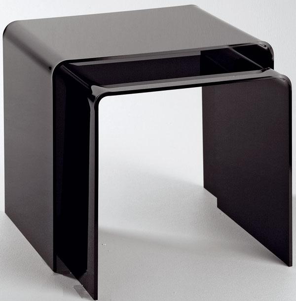 Odkladací stolík Basel z organického skla hrubého 6 cm, 40/33 × 36/33 × 33 cm, 99,90 €/2ks, kika