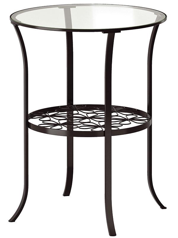 Príručný stolík Klingsbo z ocele a tvrdeného skla, 60 × 49 cm, 24,99 €, IKEA