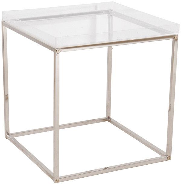 Stolík Cubo z akrylu a chrómovanej ocele, 44× 40 × 40 cm, 72,90€, Kare, Light Park
