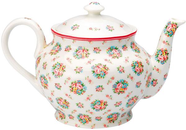Čajník Millie White od Green Gate, porcelán, priemer 14 cm, 36,30 €, bellarose.cz