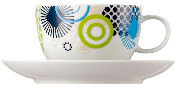Šálka stanierikom Sunny Day Patchwork od Rosenthal, porcelán, 200 ml, 19,80 €, Potten & Pannen - Staněk, Centrál