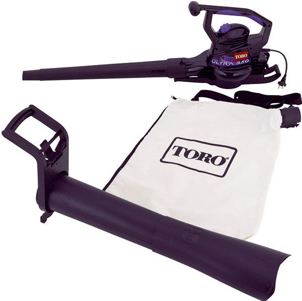 Fúkač/vysávač TORO Ultra, elektromotor, príkon 1 500 W, rýchlosť vzduchu 380 km/h, objemový prietok vzduchu 10,9 m3/min objem zberného vaku 53 l, hmotnosť 3,3 kg, Mountfield, 119 €