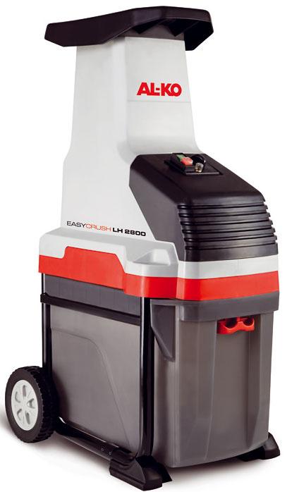 Drvič AL-KO Easy Crush LH 2800, výkon 2 800 W, napätie 230 V, maximálny priemer vetiev 4,2 cm, objem koša 50 l, hmotnosť 29 kg, tichý, valcový systém rezu, extra veľký plniaci lievik s patentovaným valcovým vťahovaním, stabilná konštrukcia s XL kolesami, 249 €