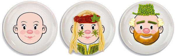 Kreatívna chuť Stanierikom Food Face možno jedlo pre deti pripraviť naozaj netradične. Zo špagiet sú vlasy, zhrášku zasa klobúk. Sfantáziou lepšie chutí. 17 €, www.chooze.sk