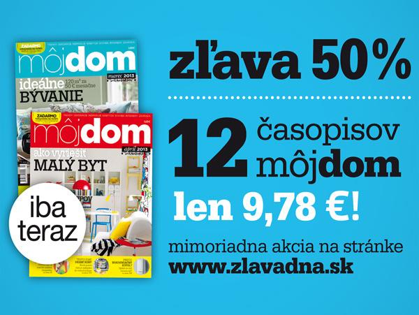 12 časopisov Môj dom so zľavou 50 %