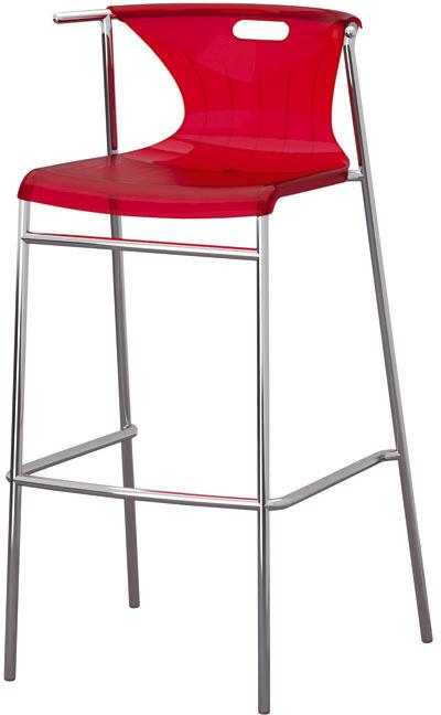 Elmer, pochrómovaná oceľ apriesvitný farebný plast, 98 × 51 × 48 cm, 69,90 €, IKEA