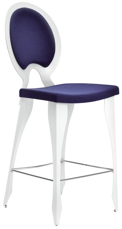 Revolution, firma MIDJ, chróm, látka, výška sedenia 65 alebo 75 cm, od 281 €, Merito