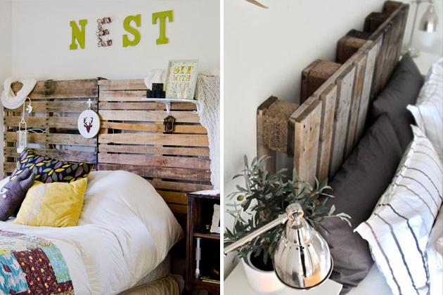 Hľadáte niečo nevšedné do spálne? Urobte si čelo postele z paliet. Originálne a jednoduché. Dodá vašej spálne rustikálny nádych.