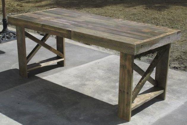 Z paliet sa dajú vyrobiť stoly rôznych veľkostí a tvarov. Môžete použiť nielen celé palety, ale aj tie polámané. Vyrobte si stôl presne podľa svojich predstáv!