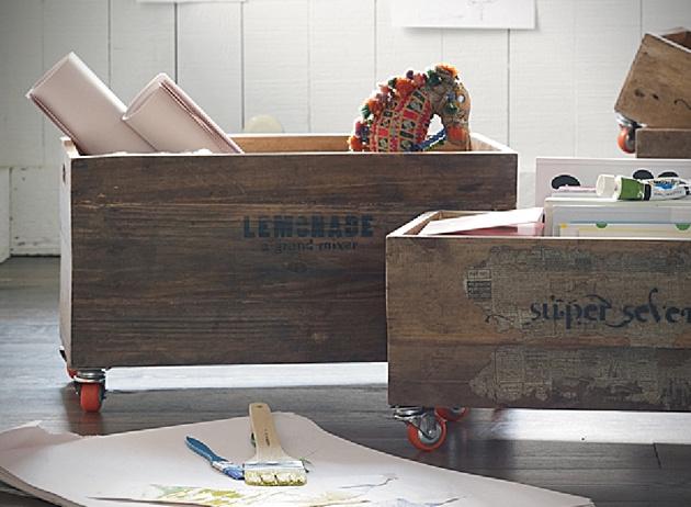 Nejde síce o domácu výrobu, ale môžete sa inšpirovať a vyhotoviť si vlastnú. Vhodné napríklad na detské hračky. Nezabudnite si pomocou šablóny namaľovať nejaký zaujímavý retro nápis.