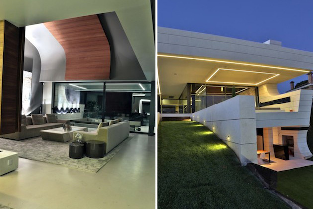 atypická balkónová rezidencia oblých tvarov