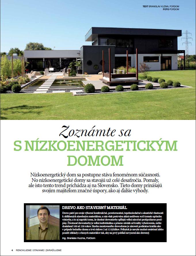 Všetko o bývaní:  Ako ušetriť a postaviť nízkoenergetický dom