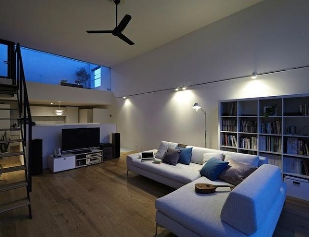 Minimalistický rodinný dom v Japonsku