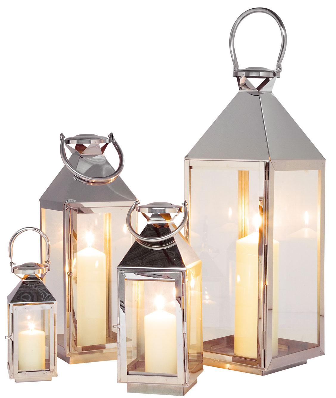 Súprava štyroch lampášov Giardino, rôzne veľkosti, 189 €, Kare, Light Park