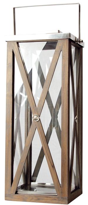 Veľký drevený lampáš Floraline, vyrába Lene Bjerre, 31 × 31 × 80 cm, 538 €, ALa Maison