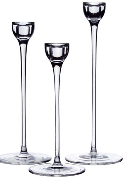 Blomster, ručne fúkané sklo, výška 24, 28, 32 cm, 14,99 €/3ks, Ikea