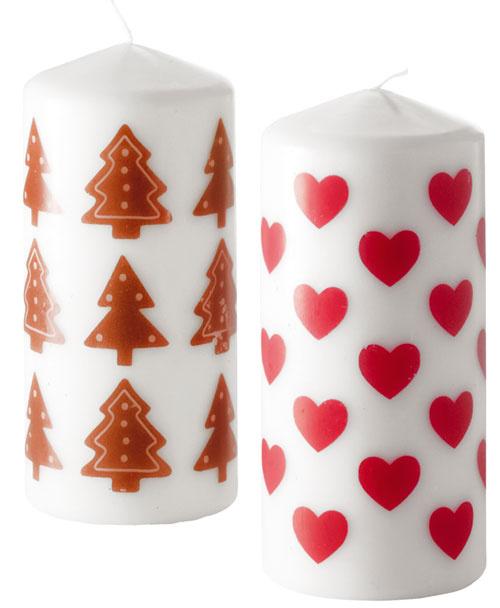 SNÖMYS, neparfumovaná sviečka, rôzne tvary, 1,99 €/ks, Ikea