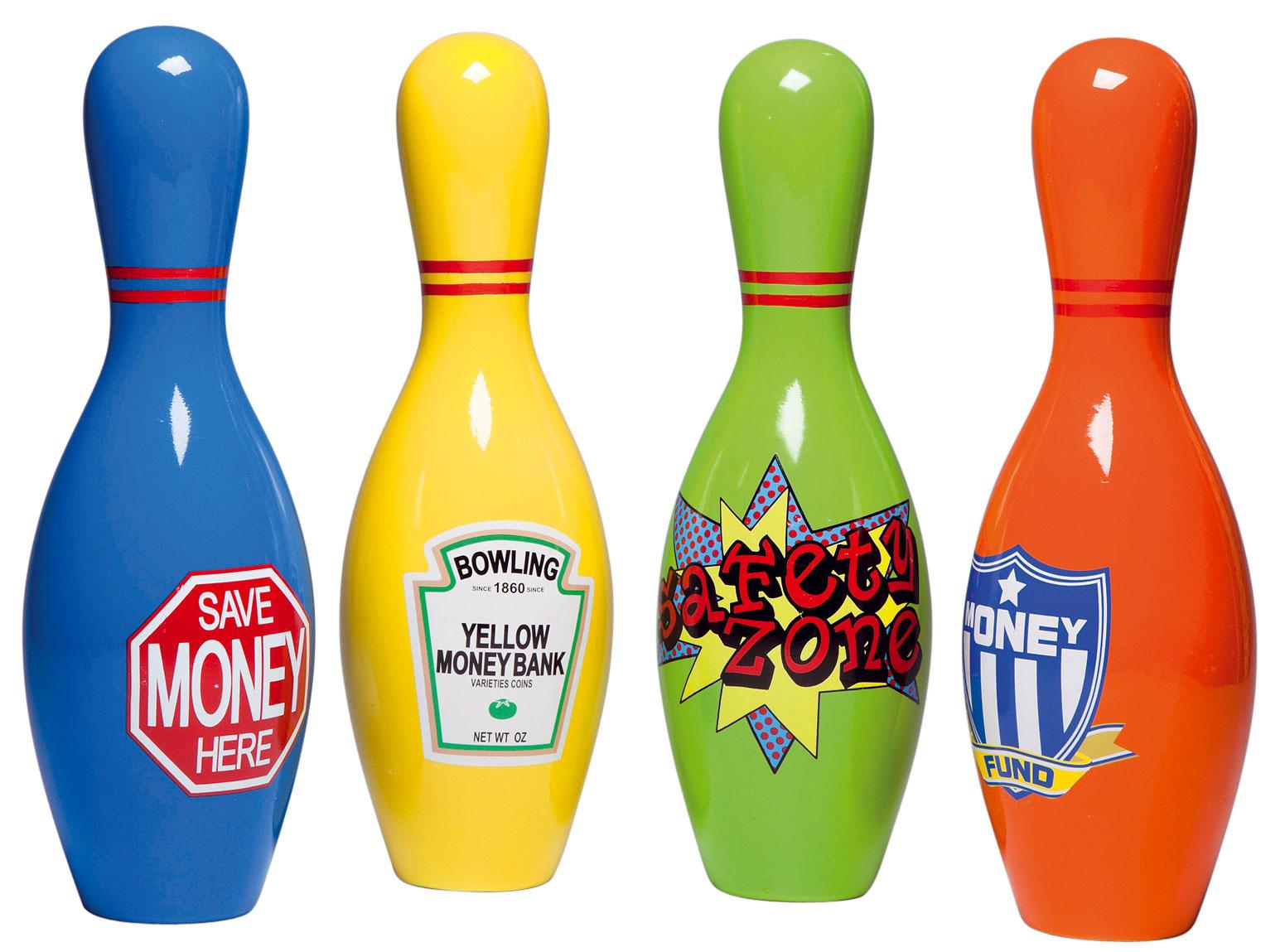 Pokladničky Bowling, dolomit, PE, 30 × 9,5 × 9,5 cm, 19,90 €, Kare, Light Park