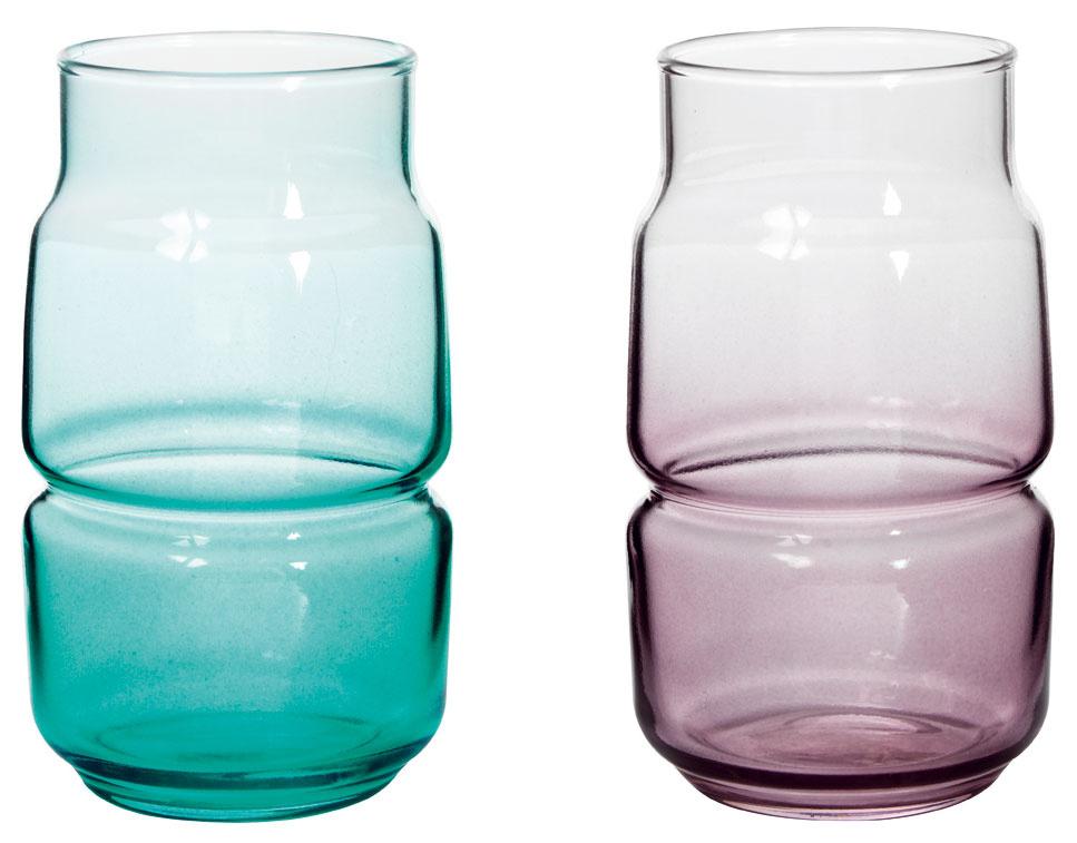 Vázičky Olik, farebné sklo, výška 12 cm, 0,99 €, IKEA