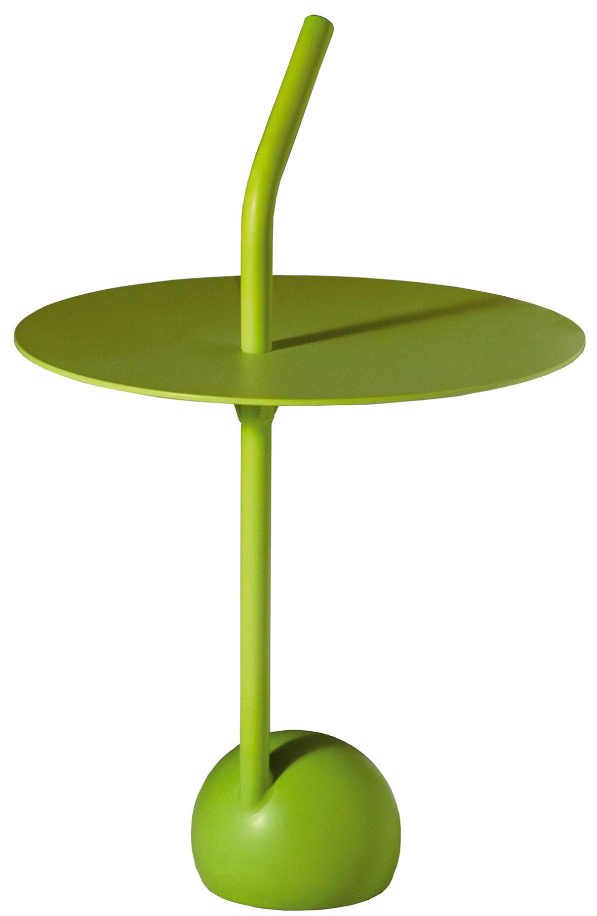 Stolík Peanut od Driade, dizajn Miki Astori, farebný hliník, 78 × 48 cm, 502 €, Konsepti