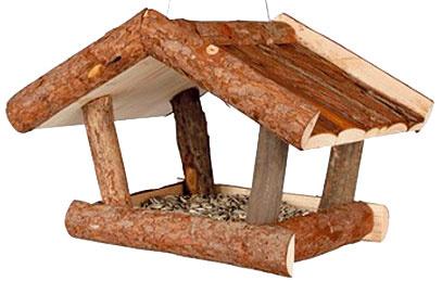 Vonkajšie kŕmidlo Natura, Trixie, drevo, 32 × 23 × 20 cm, 12,51 €, www.spokojnypes.sk
