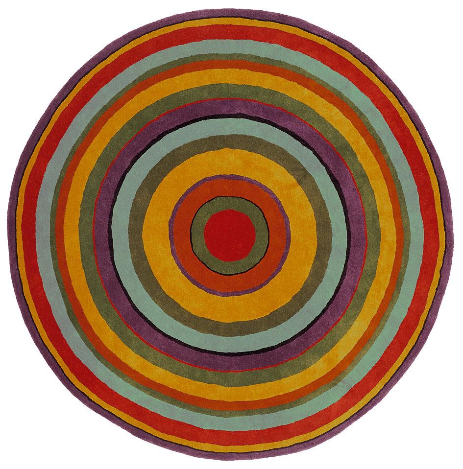 Dianw od Nanimarquina, dizajn Javier Mariscal, novozélandská vlna, priemer 250 cm, 3 049 €, konsepti.sk