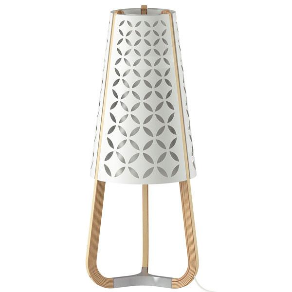 Torna, brezová preglejka, oceľ, plast, E27, 200 lumenov, 58 × 26 cm, 59,90 €, IKEA