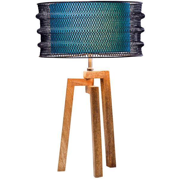 Wire Tripod, mangové drevo, bavlna, polystyrén, oceľ, 1 × E27, 60 W, 62 × 40 cm, 217 €, Kare, Ligth Park