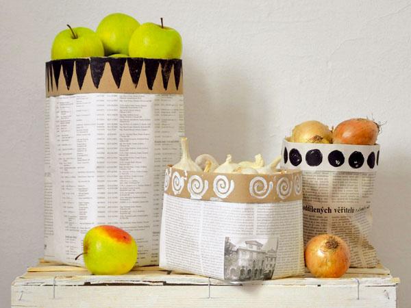 Novinové vrecká – ekologický spôsob uskladnenia potravín