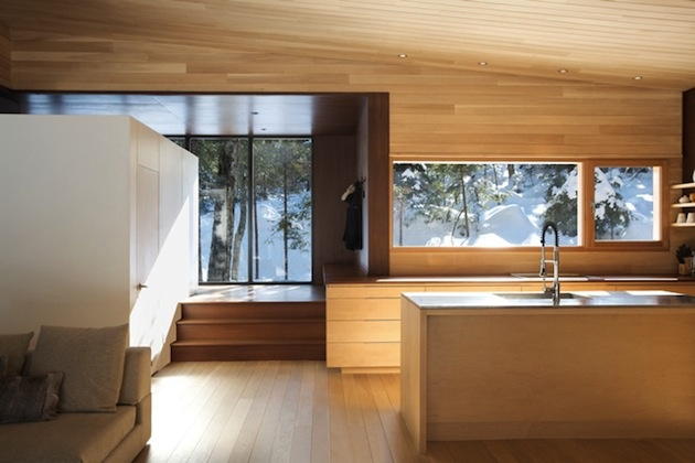 Drevený dom v Kanade