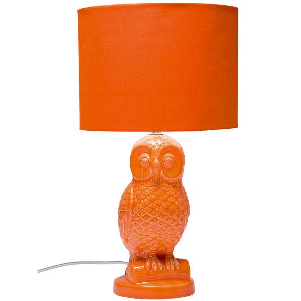 Lampa Eule Orange, kamenina, polyester, 47 × 25 cm, 55 €, Kare, Light Park