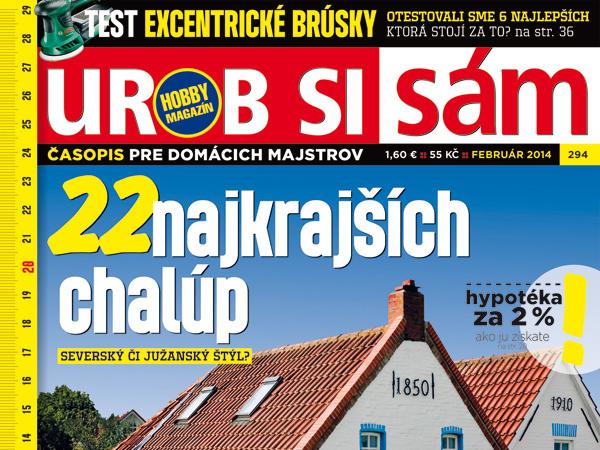 Februárové vydanie časopisu Urob si sám v predaji!