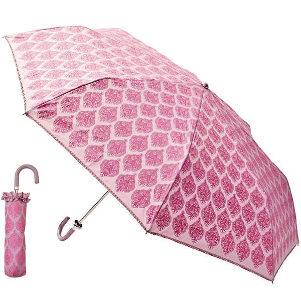 Skladací dáždnik levanduľovej farby Lisbeth Dahl, sružovými ornamentmi astriebornými flitrami, priemer 100 cm, 24,66 €, www. bellarose.sk