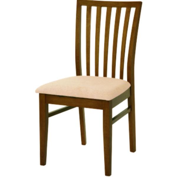 Jedálenská stolička Anabel, masívne drevo, orechový odtieň, čalúnená, textilný poťah, 45 €, Drevona