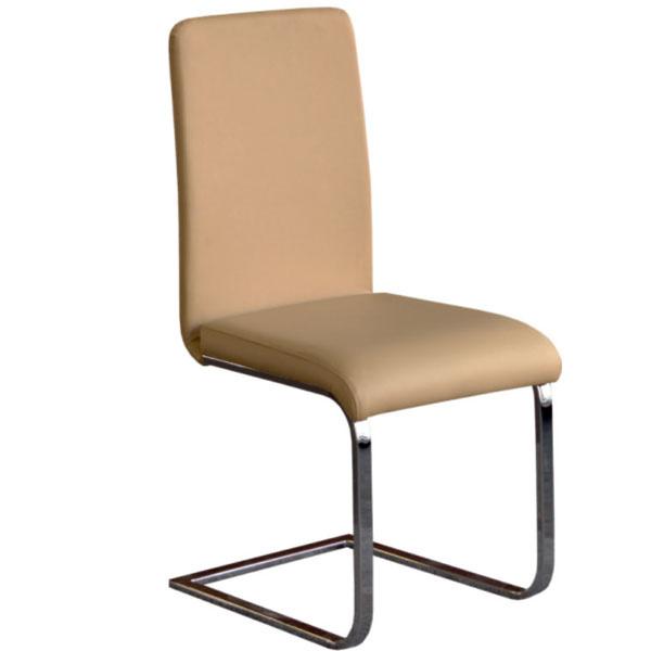 Jedálenská stolička Nayfa, chróm, čalúnenie textilná koža, výška 50 cm, 49 €, Drevona