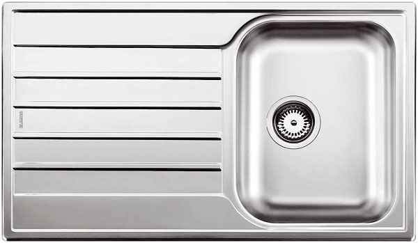 BlancoLivit 45 S Salto, antikoro, ergonomická centrálna vanička, 86 × 50 × 34 cm, 119 €, Ancor