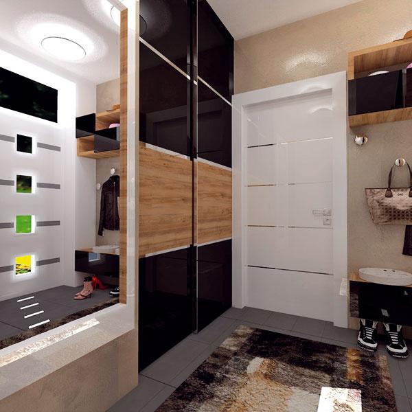 2 návrhy modernej predsiene vrodinnom dome