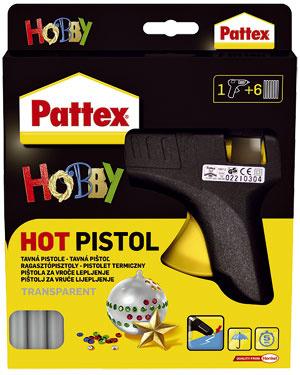 Tavná pištoľ Pattex  má široké uplatnenie pri rôznych druhoch lepenia v domácnosti, pri opravách, ale aj pri aranžovaní suchých kvetov a plodov. Pištoľ zapojíte do elektrickej siete a necháte asi 10 minút nahriať. Tuhá náplň sa v elektrickej pištoli roztaví a stlačením kohútika následne dávkujete lepidlo na lepené plochy. Účinok je okamžitý a lepidlo vytvrdne do 2 minút. Po odpojení tavnej pištole z elektrickej siete lepidlo opäť stuhne a môže sa po akomkoľvek čase použiť znova, 13,50 €, Henkel.