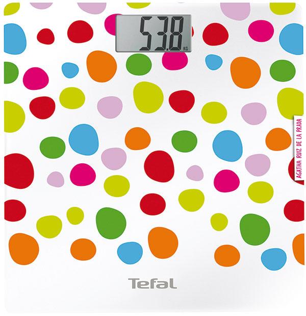 Tefal Fashion Dreams PP1120VO, elektronická osobná váha, dizajn Agatha Ruiz de la Prada, sklenený povrch, LCD displej 2,8 cm, 23,90 €